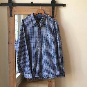 Polo by Ralph Lauren blue plaid button down shirt